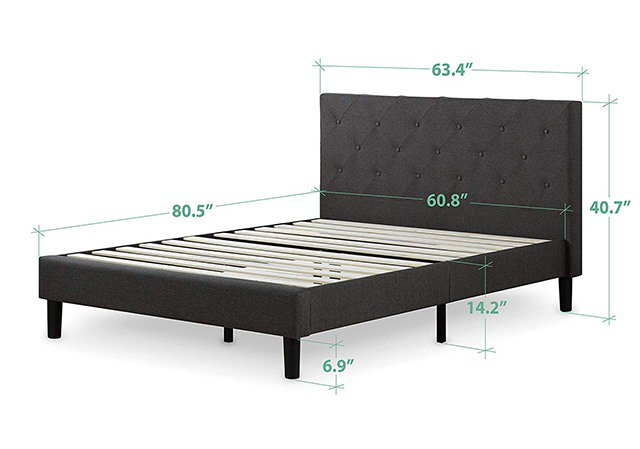 how wide is a king size bed frame the sleep judge. Black Bedroom Furniture Sets. Home Design Ideas