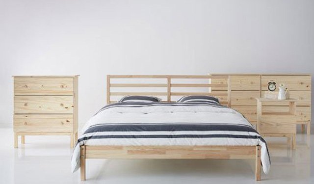 ikea tarva bed frame review the sleep judge. Black Bedroom Furniture Sets. Home Design Ideas