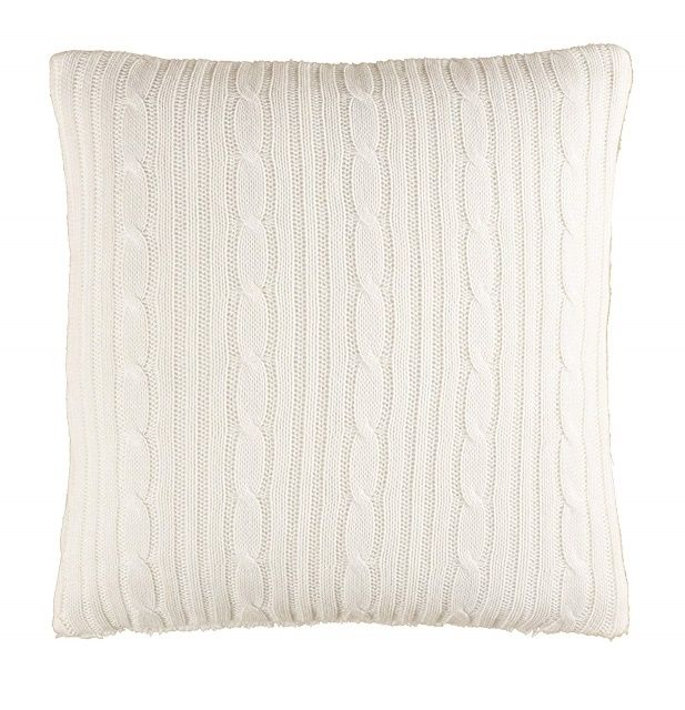 Brielle Cozy Cable Knit Throw Pillow