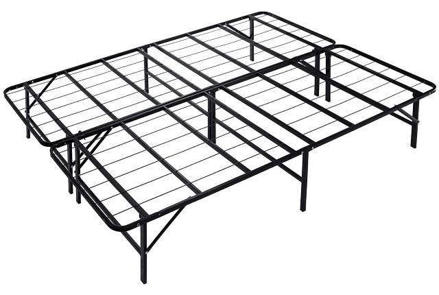 Best Bed Frames For Heavier Sleepers, Bed Frame Box Spring Queen Folding Metal Mattress Foundation