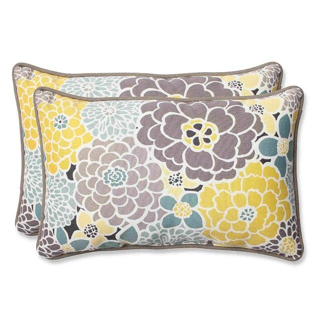 Pillow Perfect Outdoor Full Bloom Throw Pillow