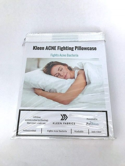 Kleen Fabrics Acne Fighting Antimicrobial Pillowcase