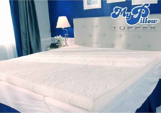 The My Pillow Mattress Topper provides a layered comfort for added support, and joint cushioning.