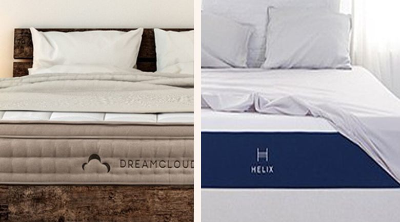 Today, we've uncovered two of the best hybrid mattresses on the market - the DreamCloud and the Helix.