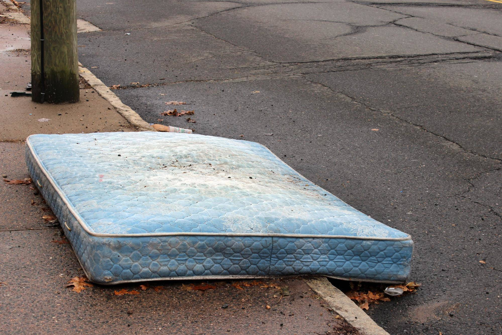 old mattress on the streets